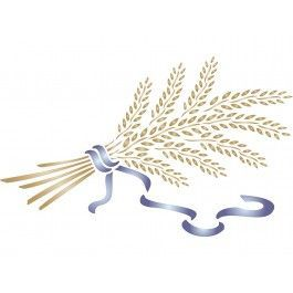 stencils for walls wheat sheaf stencil can be used on any on simple effective and easy diy shelves decorations ideas the way of appearance of any space id=36336
