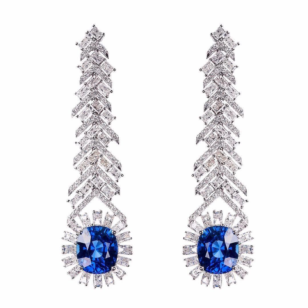 Nikos koulis jewels new oneofakind magic white diamond and blue