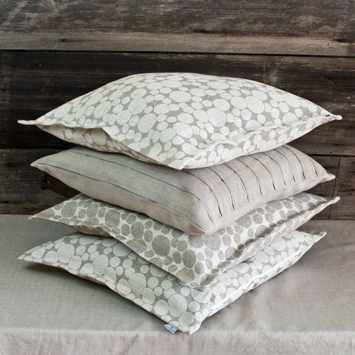 Decorative linen jacquard cushion cover Color: Off White / Natural Gray Available two color ...
