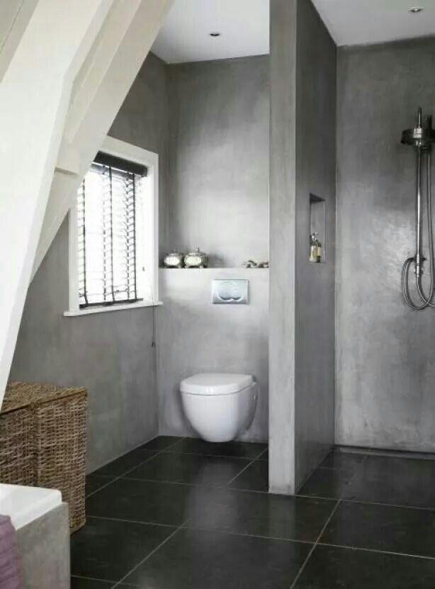 Badkamer zonder tegels | Living Bathroom | Pinterest - Tegels ...