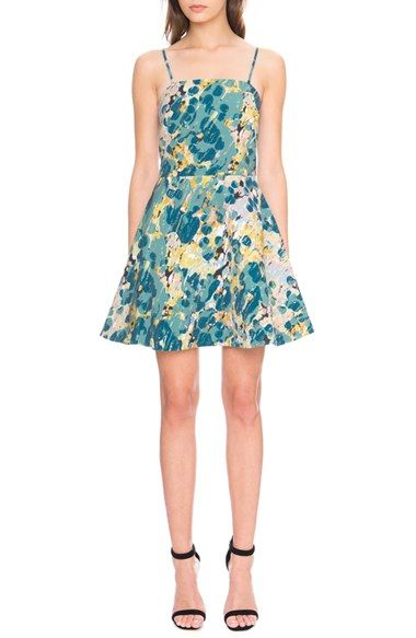 Keepsake the Label 'Tight Rope' Print Fit & Flare Dress