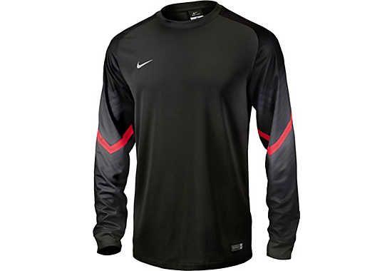 0a8c43600a118 Nike Goleiro Goalkeeper Jersey - Black and Red | Soccer | Goalkeeper ...