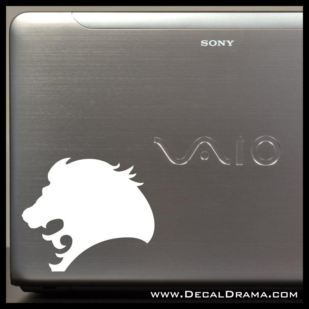 Lion Head Roar Vinyl CarLaptop Decal Laptop Decal Custom Vinyl - Custom vinyl laptop decals