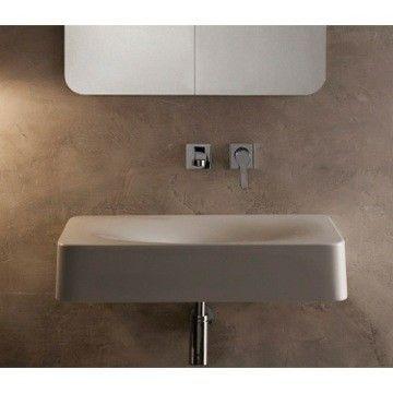 Fuji Ceramic Rectangular Vessel Bathroom Sink Wall Mounting Ideas