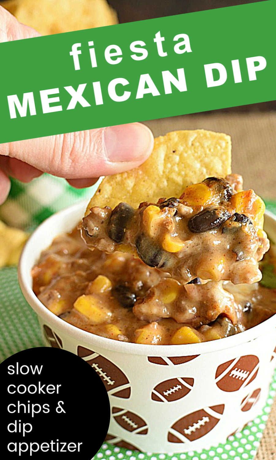 Crockpot Mexican Dip With Corn And Ground Beef In 2020 Bean Dip Recipes Baked Bean Dip Mexican Dip Recipes