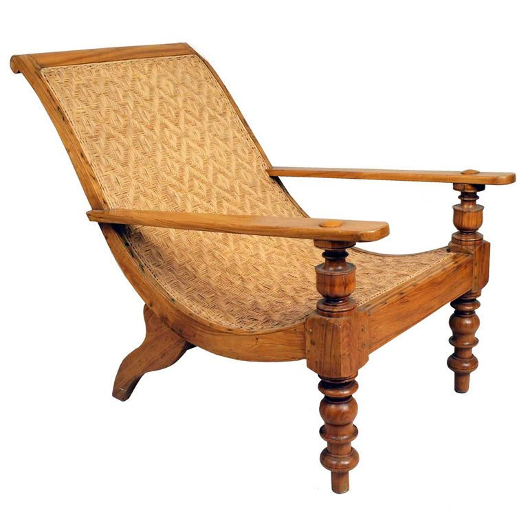 South Indian Caned Satinwood Planters Chair Verandas Display