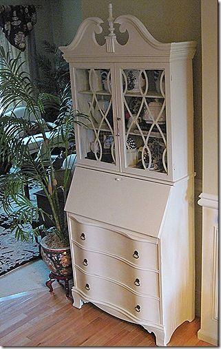 Secretary Desk Update Paint Diy Home Decor Furniture