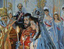The wedding of Tsar Nicholas II and Princess Alix of Hesse-Darmstadt - 1894