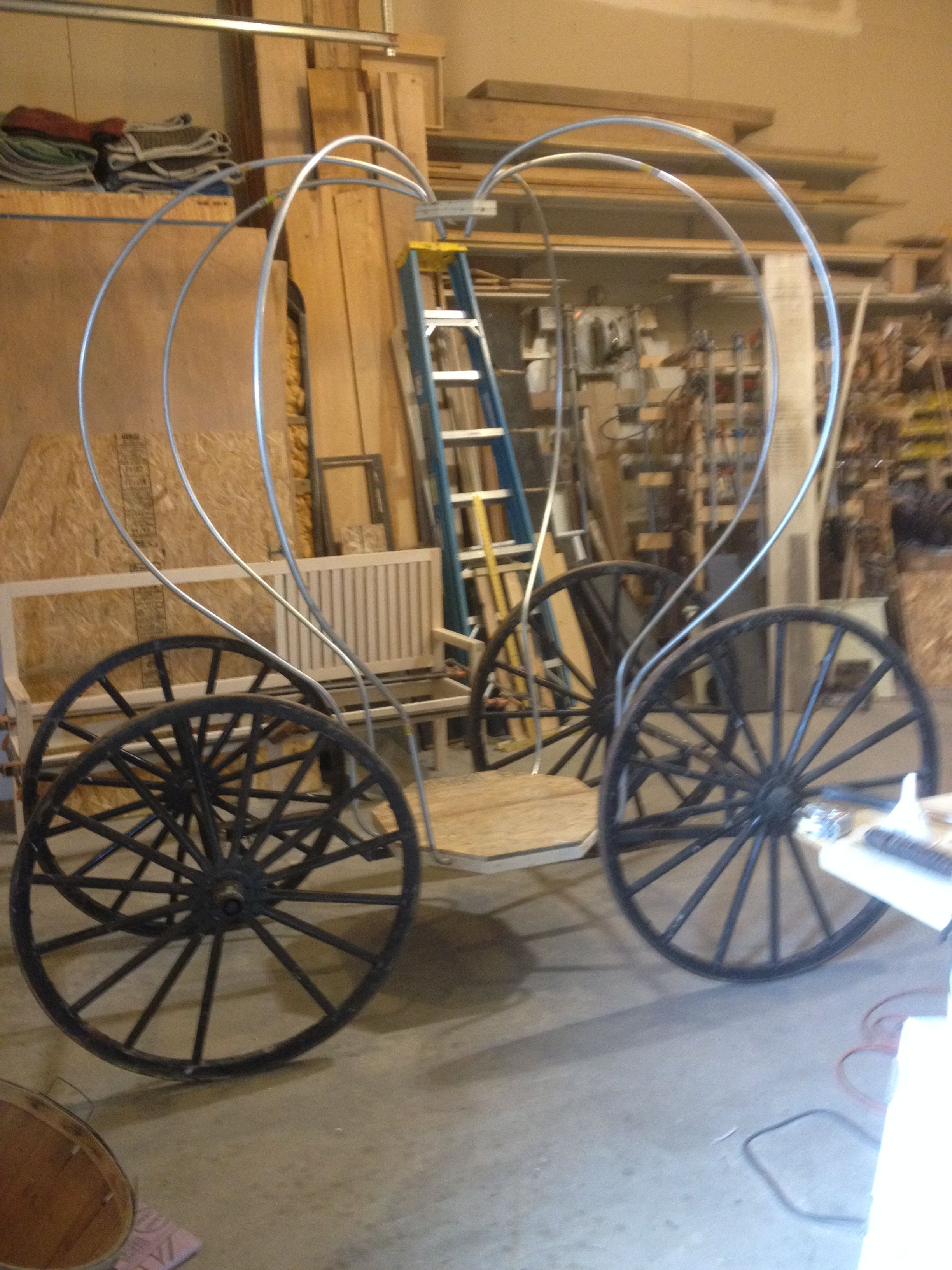 Building Cinderella\'s Carriage, greenfieldwoodworks.com | Balloon ...