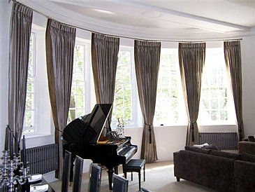 contemporary draperies for large windows | Decorating Your Home With ...