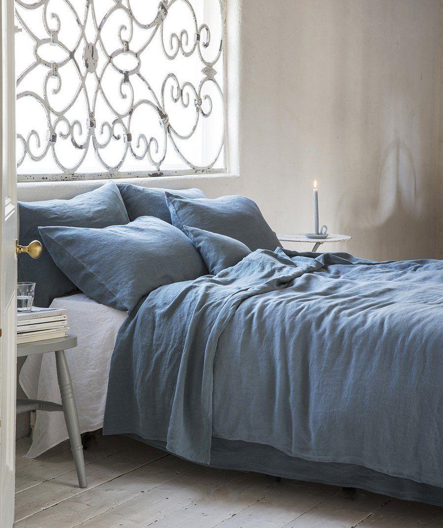 best places to buy pure linen bedding parisian blue linen