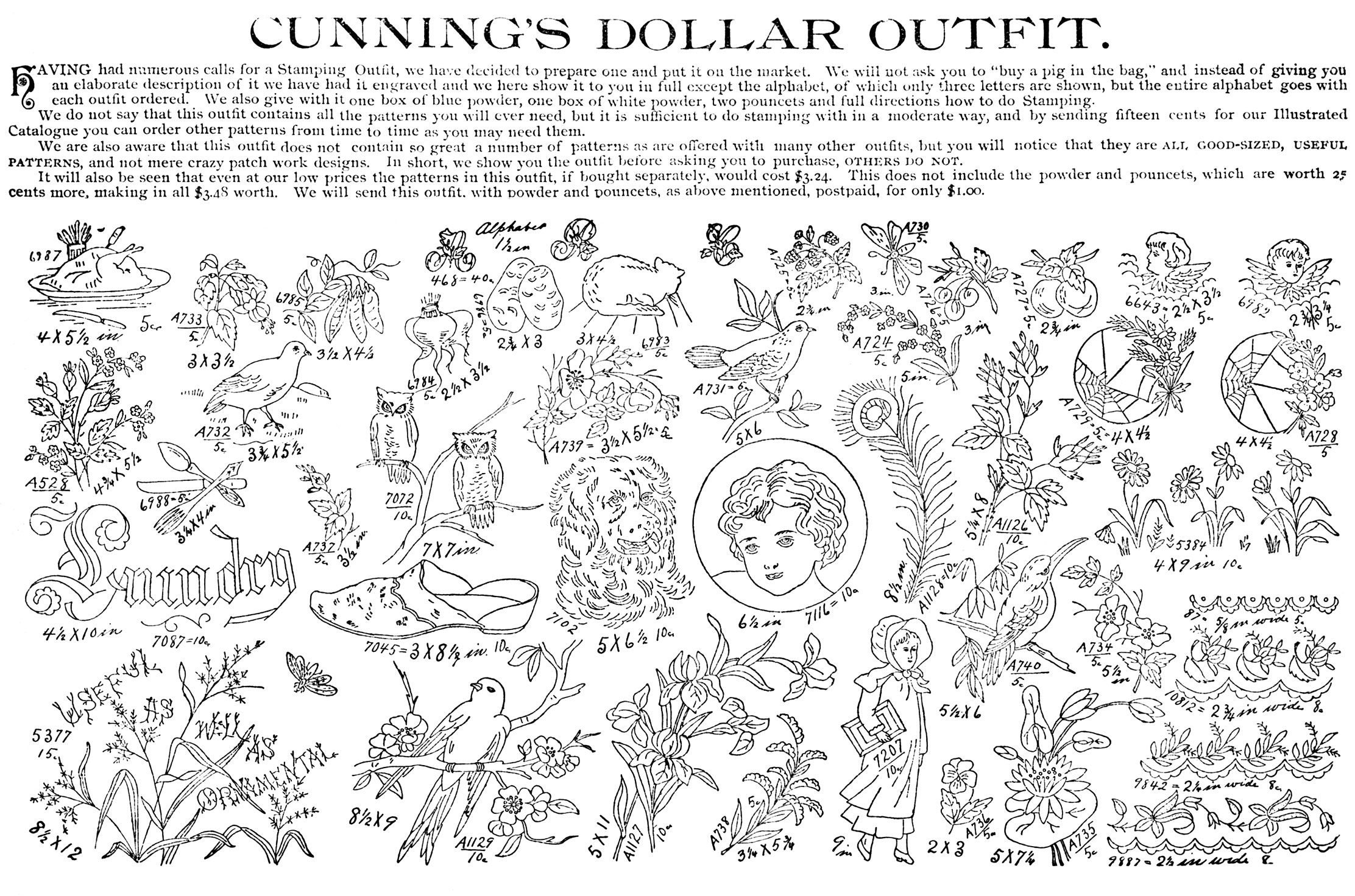 Cunning S Perforated Stamping Patterns Catalog