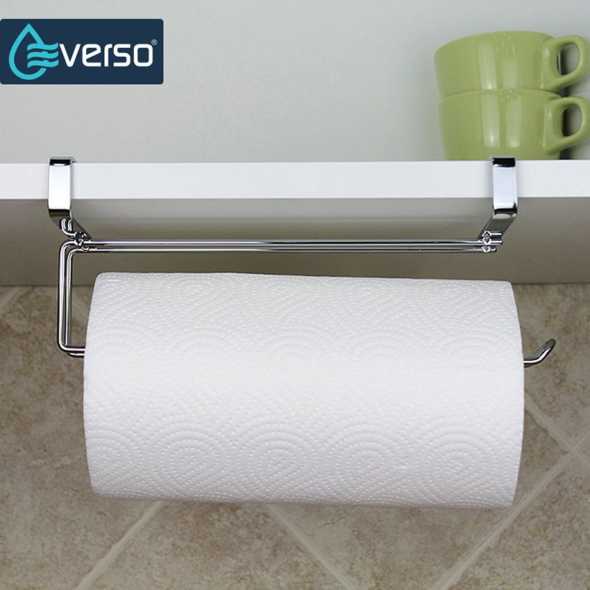 Stainless Steel Kitchen Roll Holder Hanging Organizer Shelf Toilet Paper Holder Bathroom Paper Towel Holder Toilet Paper Storage Bathroom Toilet Paper Holders