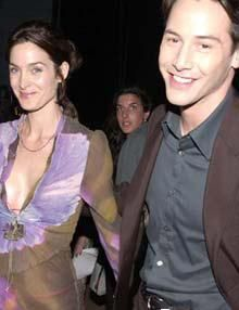 Keanu reeves dating carrie-anne moss