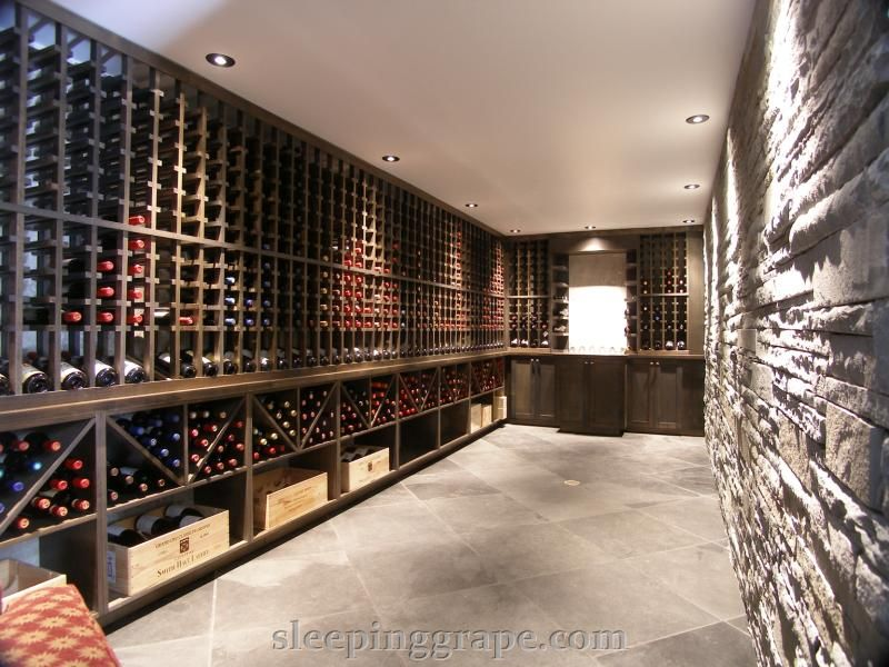 23 foot long, subterranean wine cellar