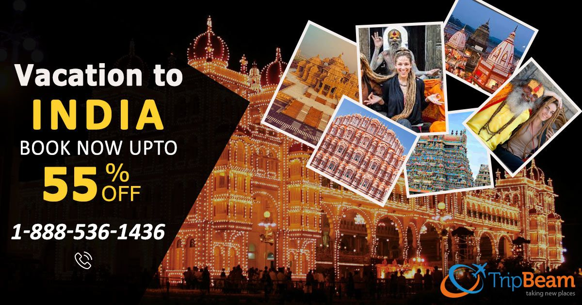 Best Flight Deals to # India!! Visit India in its festive style. Get UPTO 55% Off. Hurry, Book Now!   For more information: Contact us at: 1-888-536-1436 (Toll-Free), info@tripbeam.ca  #TripBeam #FlightstoIndia #CheapFlights #OnineFlightbooking #BestOffers #BestDeals #bestdealsonflights #cheapflightbooking #travel #budget #tourism #incredibleindia #bestflightdeals #cheapflightstoIndia #BookNow