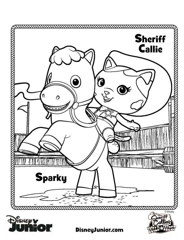 Sheriff Callie coloring page | Munchkins | Pinterest | Sheriff ...