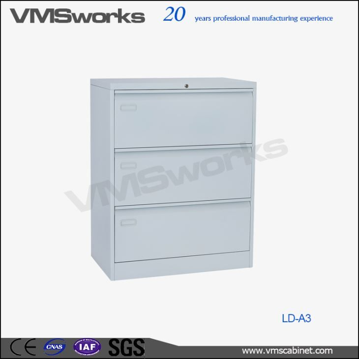 China Full Width Handle Modern 3 Drawer Larteral Office Filing ...