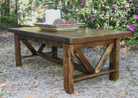 Reclaimed Wood Coffee Table Dark Stain Cody by GreenSouthLiving, $260.00