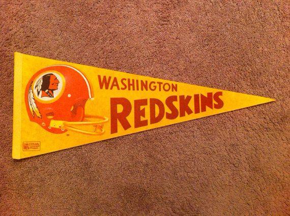 Washington Redskins Vintage Felt Pennant