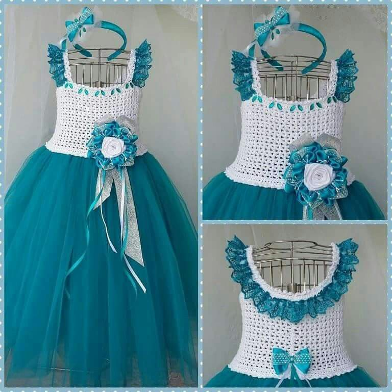 Vestido Crochet Pinterest Crochet Babies And Kids