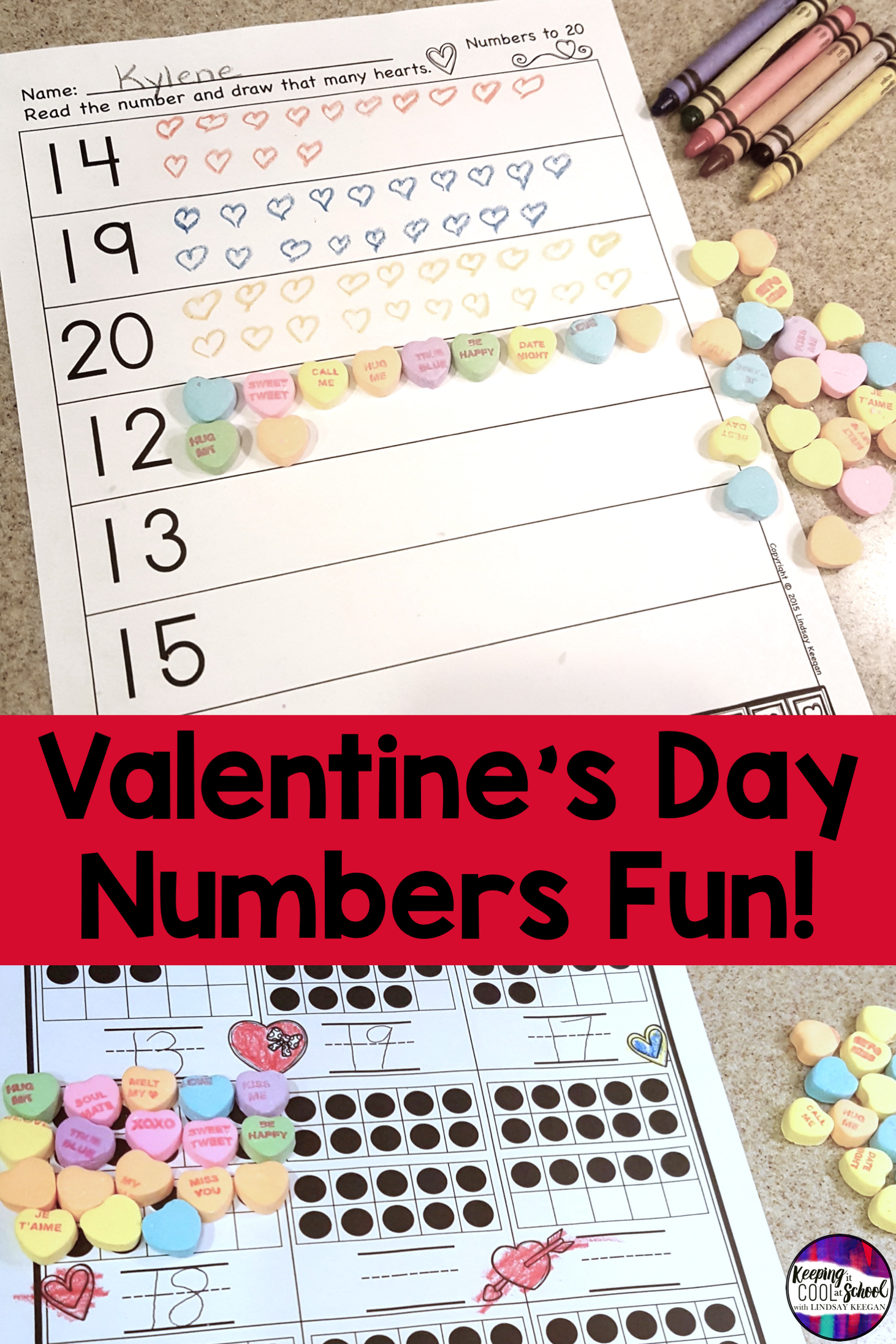 Free Valentine S Day Numbers Activities In