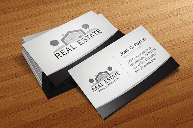 Elegant real estate business card business card mockup psd elegant real estate business card colourmoves