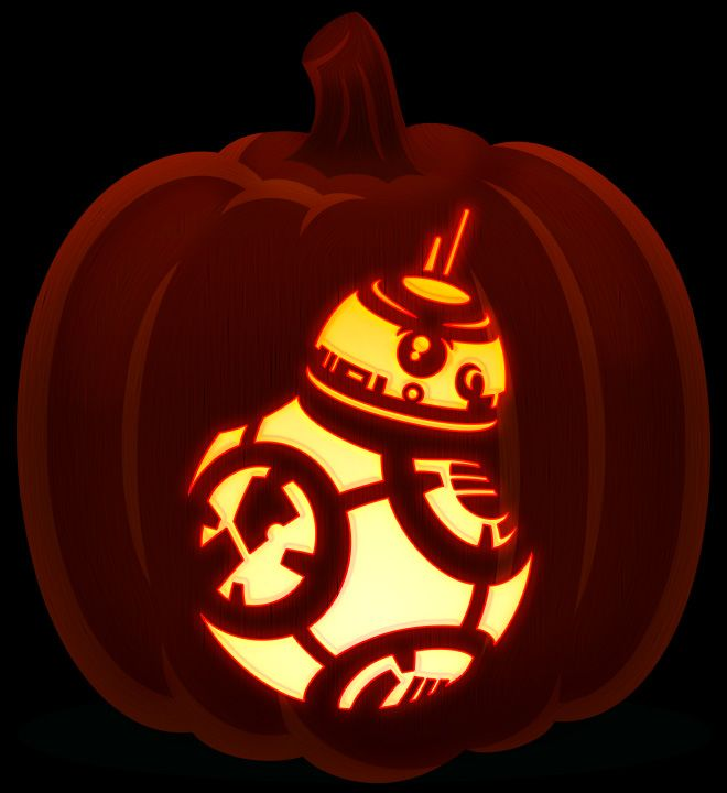 Bb 8 Star Wars The Force Awakens Star Wars Pumpkin Carving