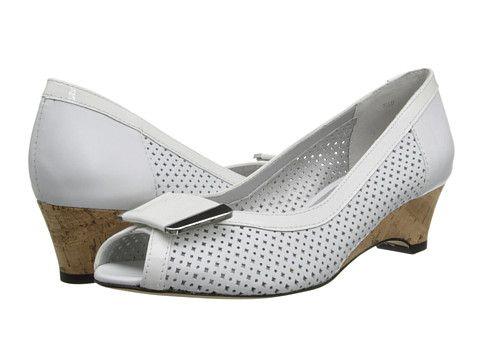 Womens Shoes Vaneli Bonnee White Nappa/Pure White Smack Patent/Silver