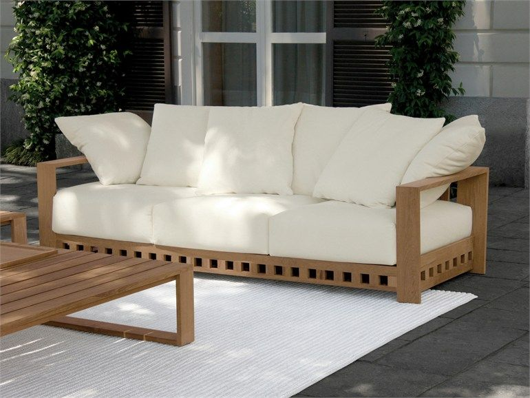 2 seater upholstered garden sofa square square collection by, Möbel
