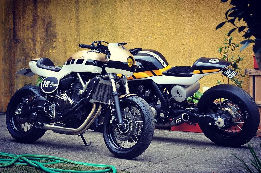 """"""" itrocks bikes CS 09 Stellar vs CS 07 Gasoline  yamaha yard built MT-07 vs  Vmax  itrocksbikes  yamaha  yardbuilt  mt07  vmax"""" 9c0529c95ceb"""