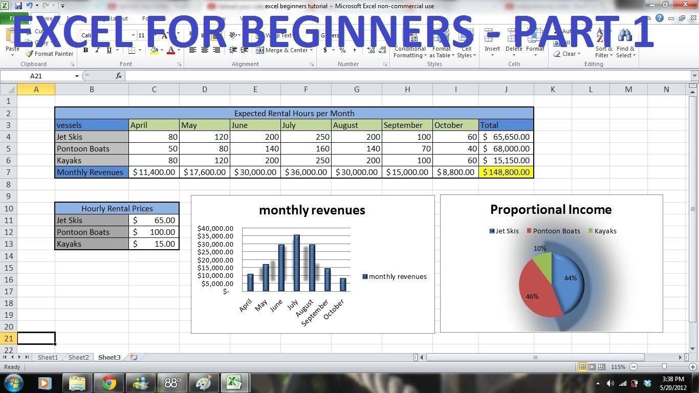 How To Use Excel Tutorial For Beginners Part 1