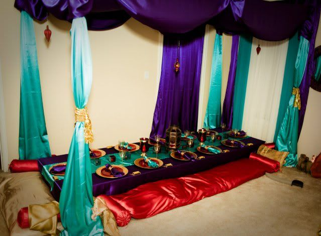 Ali baba and the 4t thieves party birthday parties for Aladdin decoration ideas