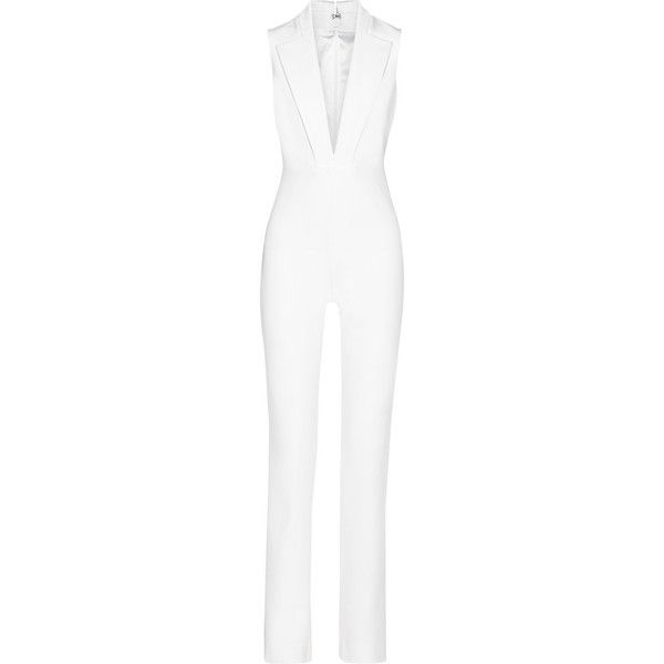 e5dacb8f6595 Cushnie et Ochs Stretch-woven jumpsuit (6.635 BRL) ❤ liked on Polyvore  featuring jumpsuits