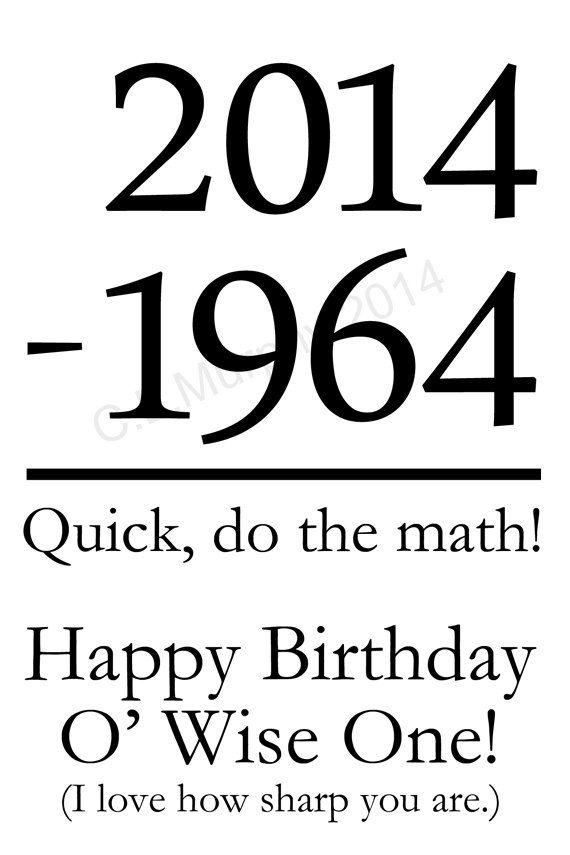 DOWNLOAD, 50th Birthday, Turning 50, Friend Birthday, Relative Birthday, Milestone Birthday, Humor 50th Birthday, 50th Birthday Card on Etsy, $4.42 AUD