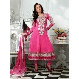 Pink Chiffon Salwar Kameez