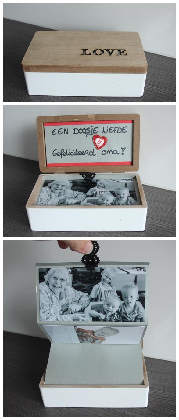 Een doosje gevuld met liefde een leuke originele n for Leuke ideeen om geld kado te geven