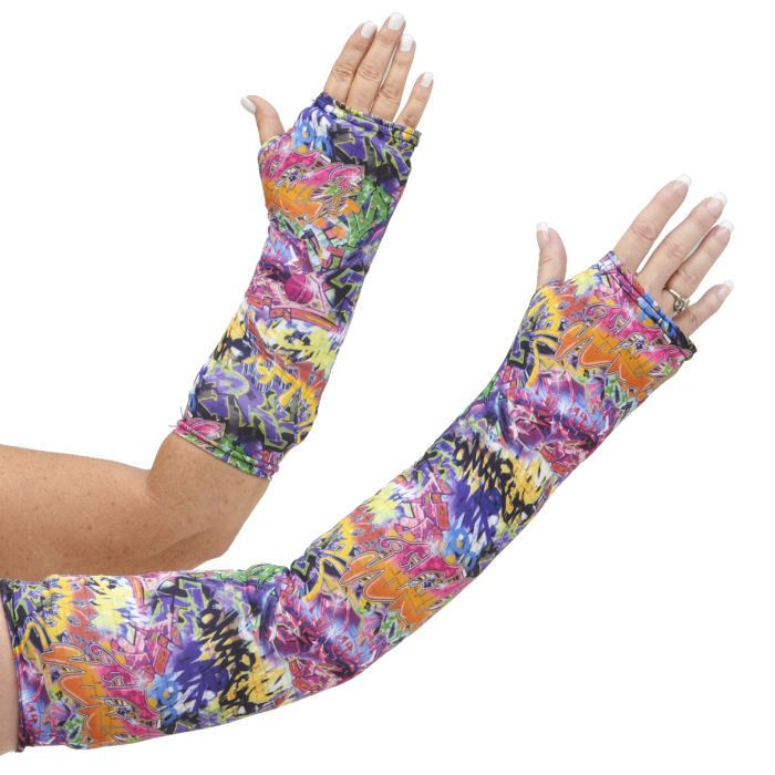 Long and short arm cast cover in vibrant colors with that hip, street vibe!