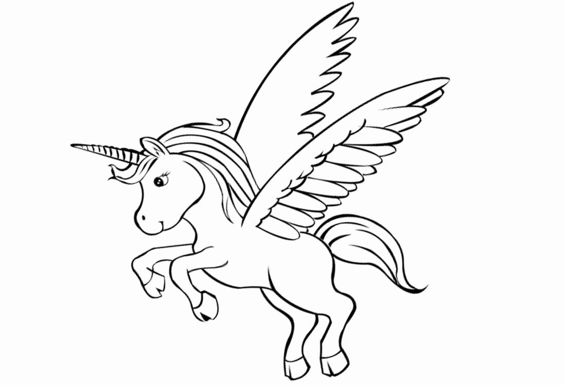 Unicorn Pegasus Coloring Page Inspirational Unicorn Pegasus
