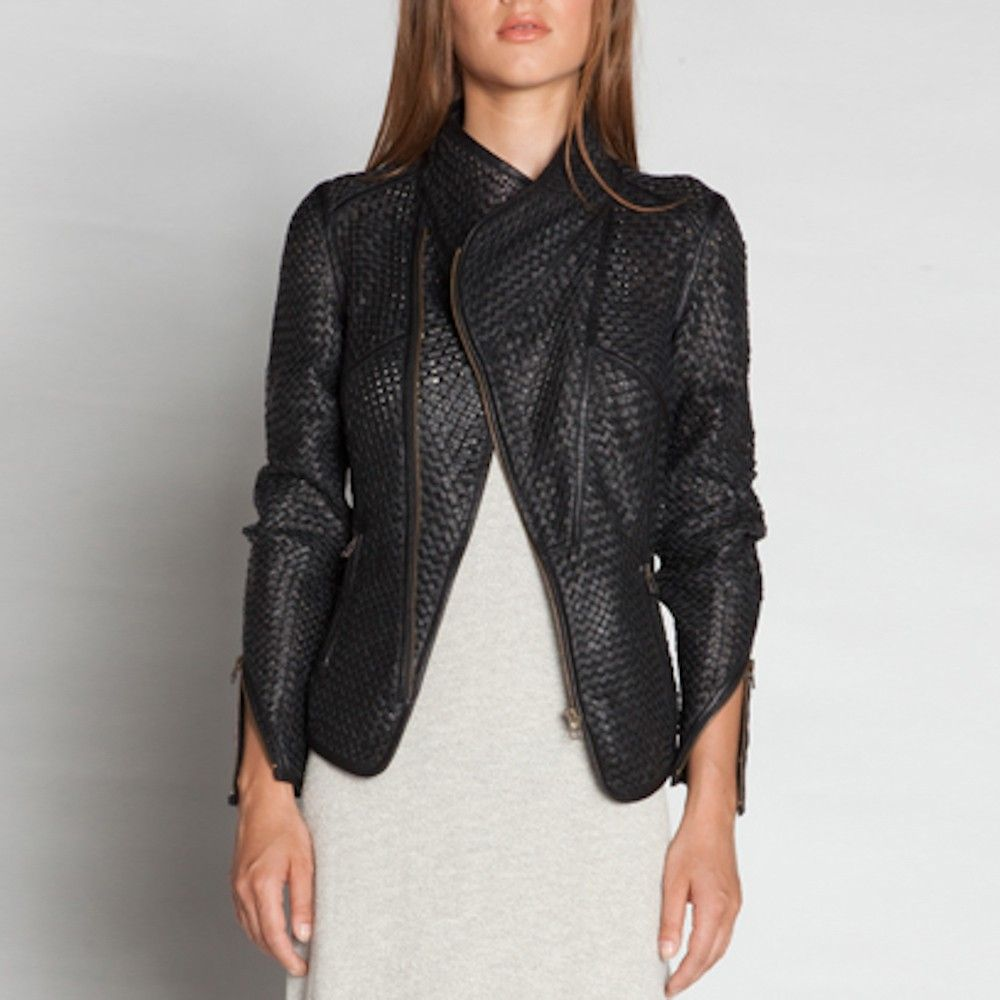 f20ebbf7a IMPROVD woven leather jacket. holy perfection   { RTW }   Jackets ...