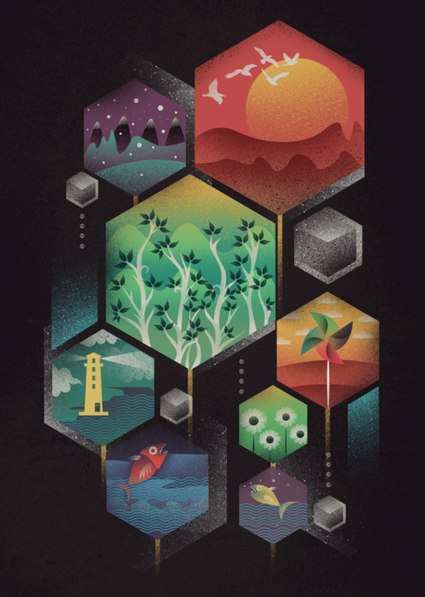 New Illustrations by Dan Elijah Fajardo, via Behance