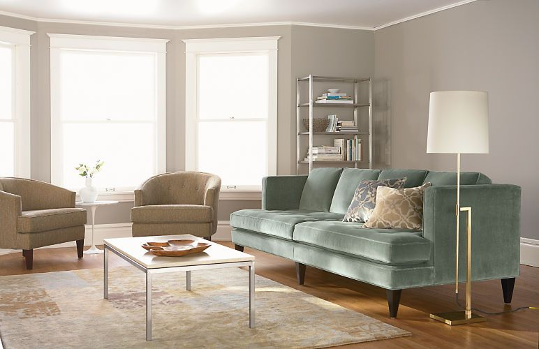 Hutton Sofa Room With Paris Chair In Leather Modern Living Furniture Board