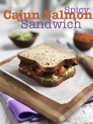 Spicy Cajun Salmon Sandwich Recipe - In The Playroom