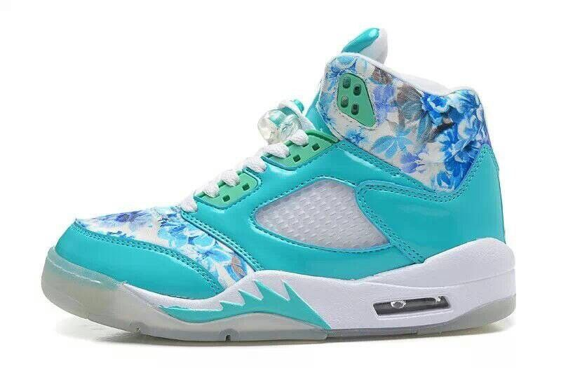 Girls Air Jordan 5 GS Blue Cherry Blossom For Sale | New Air Jordan Shoes
