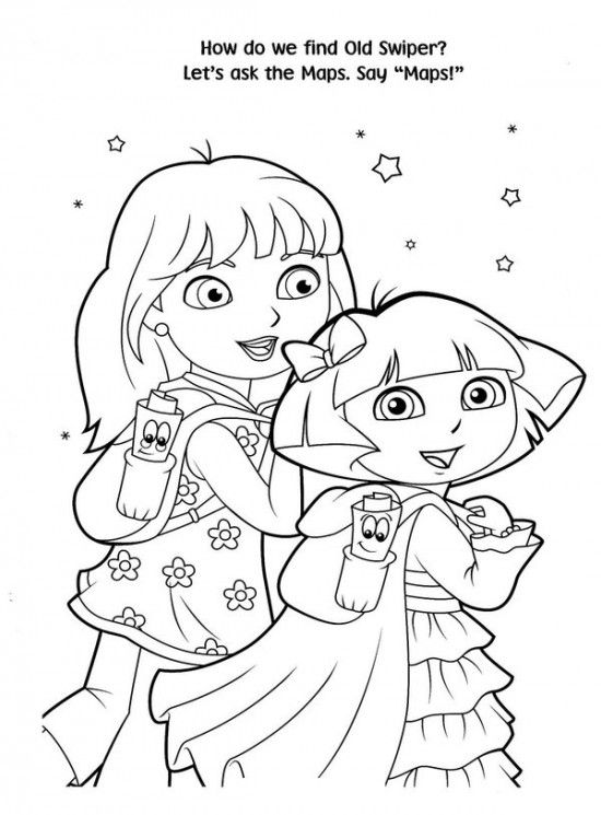 Dora The Explorer Christmas Coloring Pages - GetColoringPages.com | 745x550