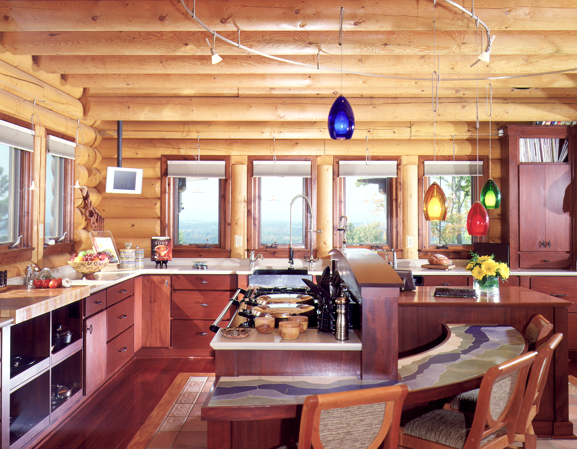 log cabin bar ideas kitchen design ideas real log on home interior design kitchen id=94257