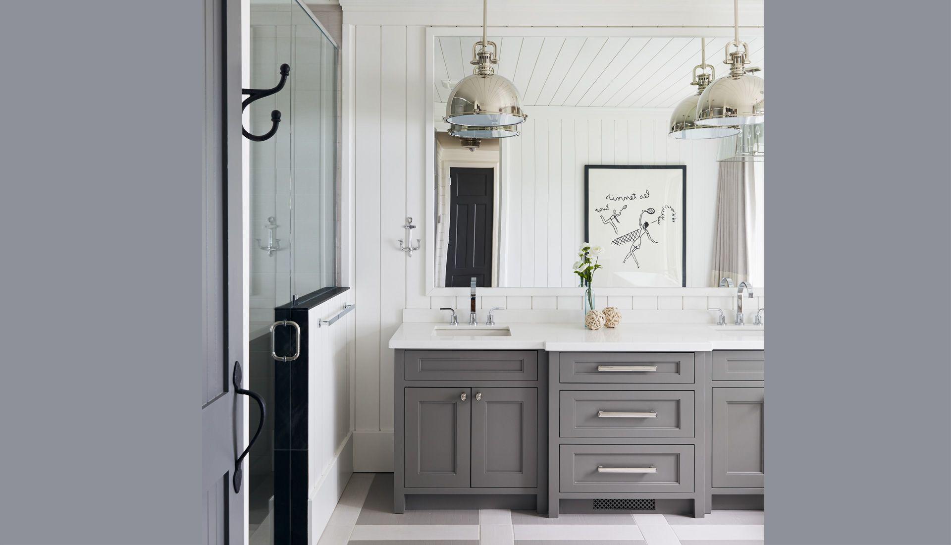 gray bathroom vanity Bathrooms Pinterest