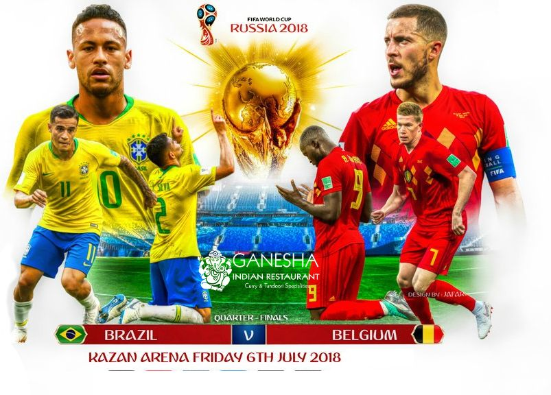 Watch Fifa Worldcup 2018 Quarter Finals On Big Screen In Our Restaurant Ganeaharestaurant Visit Brazilvbelgium Braz World Cup Football Girls Fifa