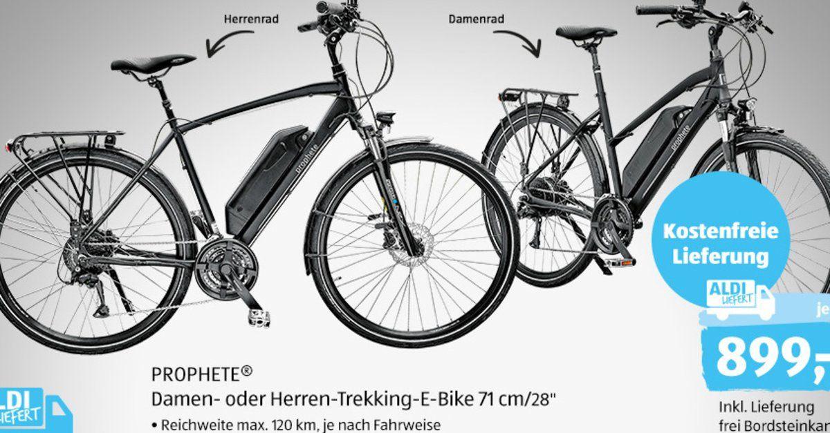 E Bike Ab Heute Bei Aldi Fur 899 Euro Trekking Pedelec Von Prophete Im Technik Check Lohnt Sich Der Kauf Pedelec E Bike Federgabel