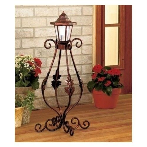 Solar Lamp Post Outdoor Porch Lighting Garden Deck Patio Lantern Light  Decor New